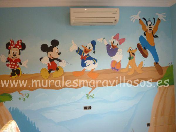 M s de 1000 ideas sobre murales de pared para ni os en - Murales para ninas ...