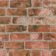 Fine Decor Distinctive Brick Wallpaper Red
