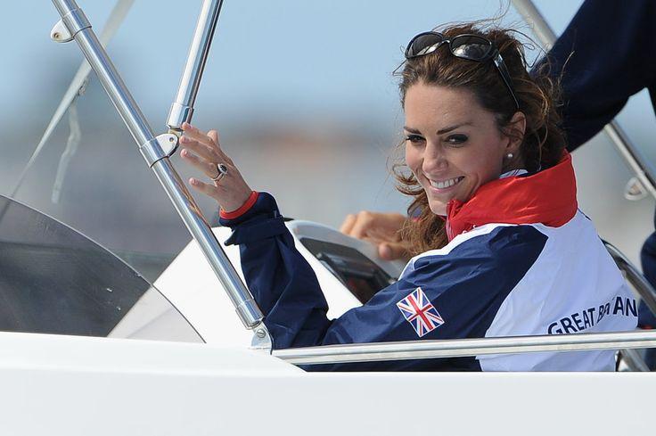 Kate Middleton Watches Olympic Sailing  #olympics #sailing #royal