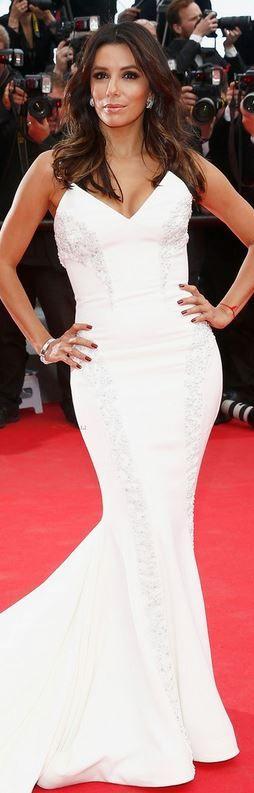 Eva Longoria at Cannes 2014: Dress – Gabriela Cadena  Shoes – Brian Atwood  Jewelry – Damiani
