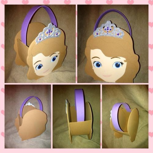 Sofia the first inspired party bags