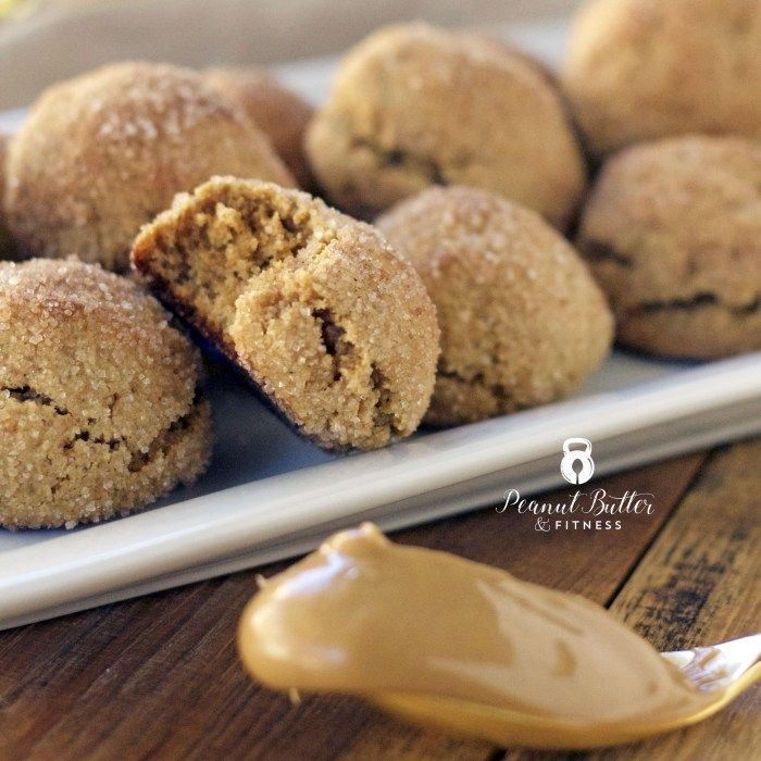 Peanut Butter Protein Snickerdoodles - Nice and moist Gluten free cookies to add to your holiday baking spread!  Yield: 20 cookies • Calories per cookie: 105 • Fat: 6 g • Protein: 5 g • Carbs: 9 g • Fiber: 1 g • Sugar: 6 g • Sodium: 43 mg • Cholesterol: 11 mg