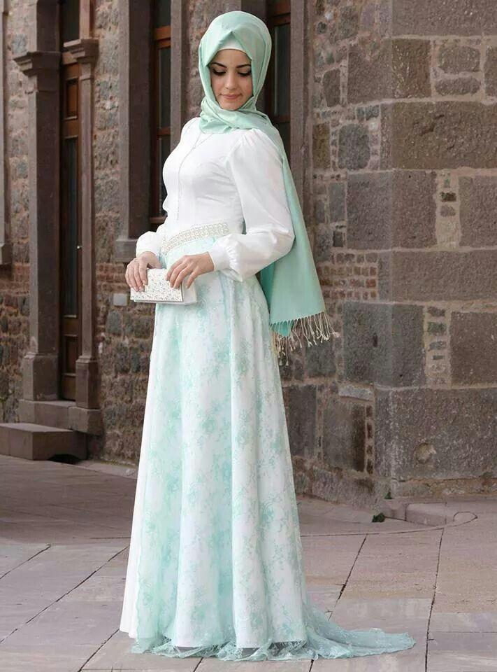 Hijab Fashion She Just Look Amazing Love The Light Aqua