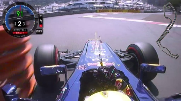 Mark Webber getting close to the barriers in Monaco.