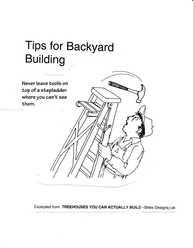Handy tip: Never leave tools on top of a ladder. More tips