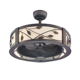 allen + roth Eastview 23-in Aged Bronze Downrod Mount Indoor Ceiling Fan with Light Kit and Remote Control (3-Blade)
