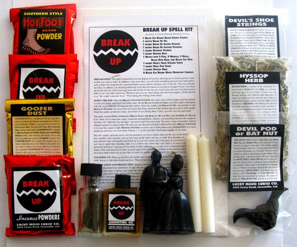 Hoodoo Magick Rootwork:  Breakup Spell Kit, from Lucky Mojo.