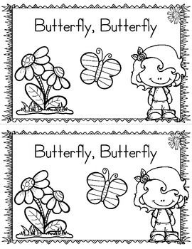 LIFE CYCLE OF A BUTTERFLY FREEBIE EMERGENT READER & PRINTABLES - TeachersPayTeachers.com free