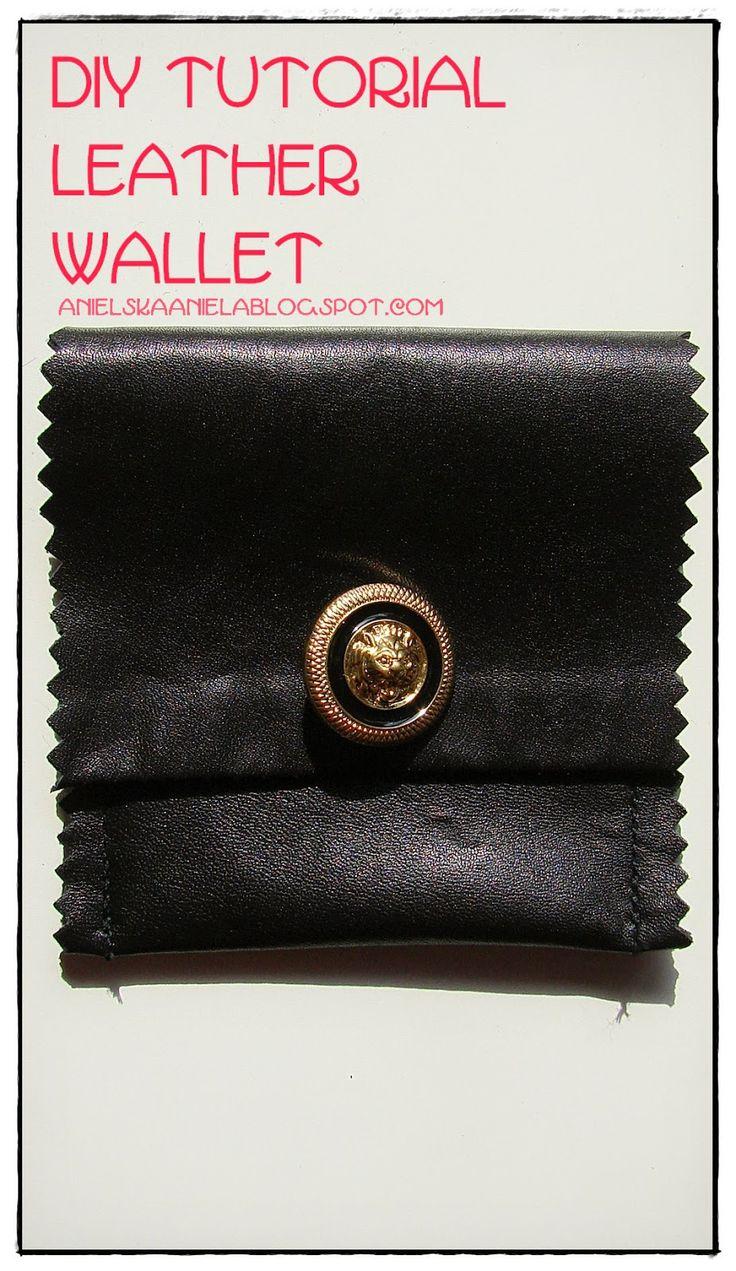 Diy tutorial leather wallet..skórzany portfel...diy