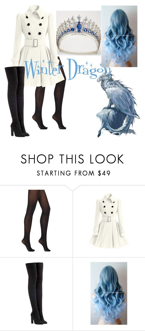 """Winter Dragon"" by mirajanestruss ❤ liked on Polyvore featuring Wolford, WithChic and adidas Originals"