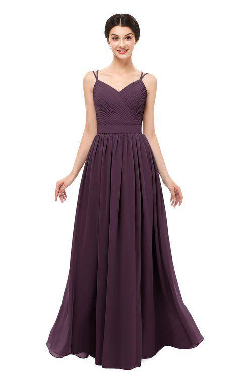 1d49e9b24e6d ColsBM Bryn Plum Bridesmaid Dresses Floor Length Sash Sleeveless Simple A- line Criss-cross