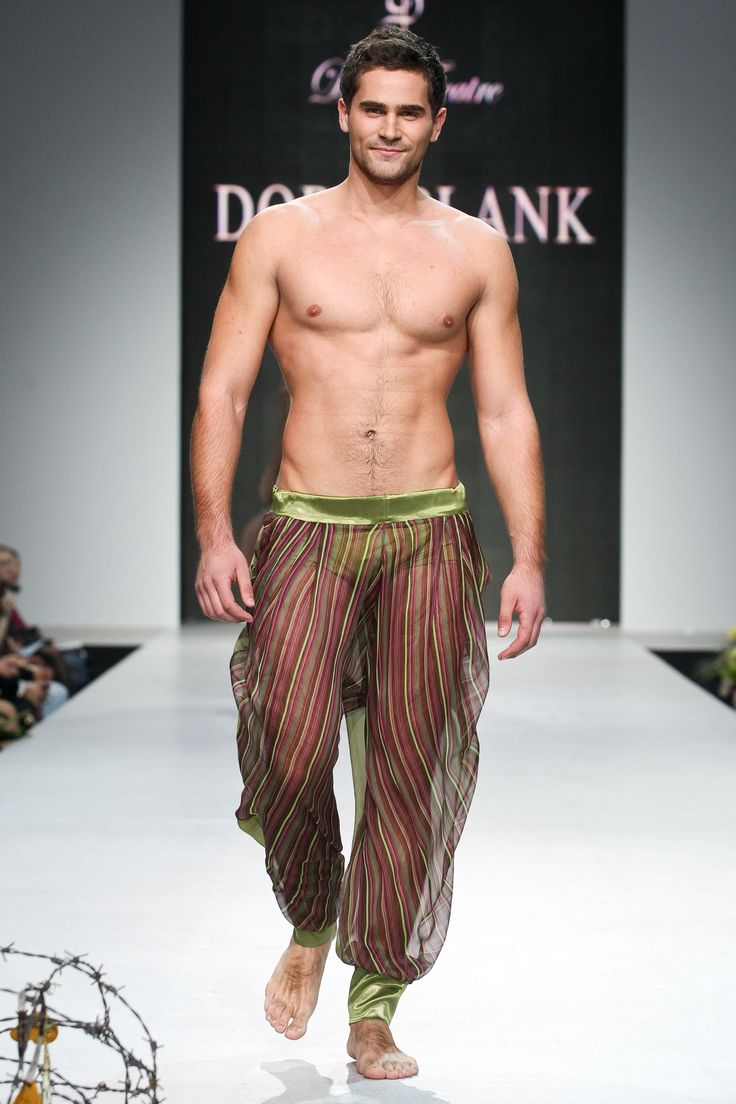Oxumoro Collection by Dora Blank Couture. Мужские шифоновые штаны.Men's chiffon pants
