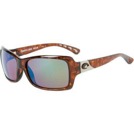 Costa Del Mar Islamorada Polarized Sunglasses - Costa 580 Glass Lens - Women's Tortoise/Green Mirror, One Size Costa Del Mar. $248.95