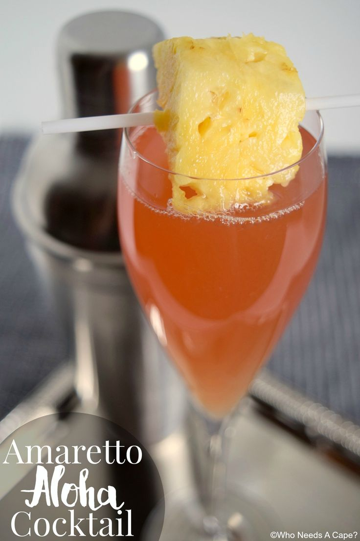 Amaretto Aloha Cocktail, a taste of the tropics at home!