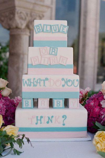 Adorable gender reveal cake!