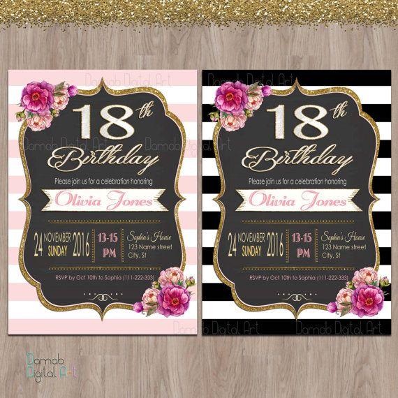 18 compleanno inviti inviti festa di compleanno di DamabDigital