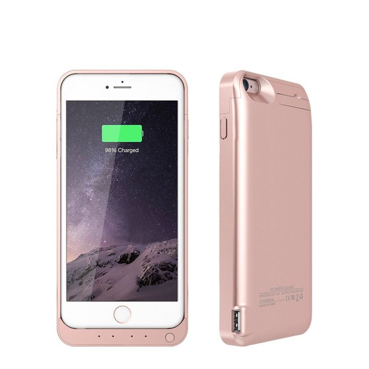 Rose Gold coloured charger case for iPhone 6 6s mobile phones