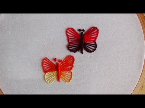 Hand Embroidery: Blanket Stitch (Butterfly Stitch) - YouTube