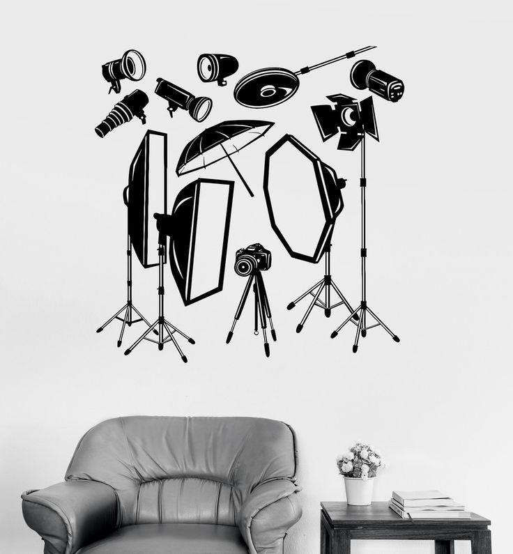 Vinyl Wall Decal Photo Studio Equipment Photographer Stickers Mural (051ig)