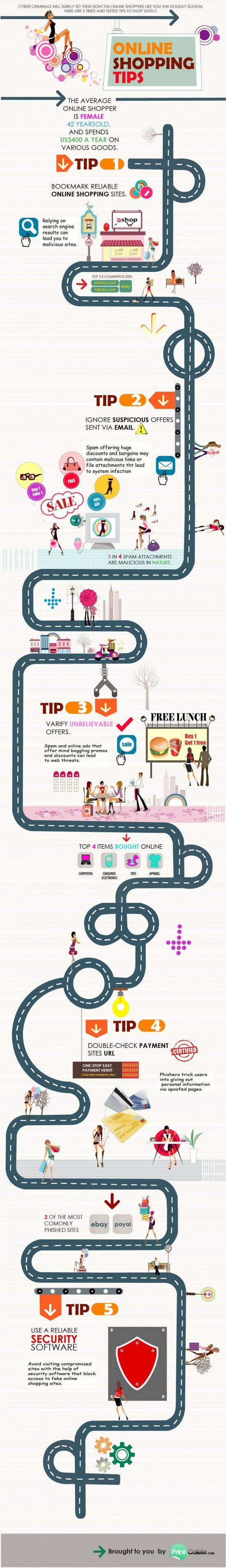 5 Tips On Shopping Online #infographic
