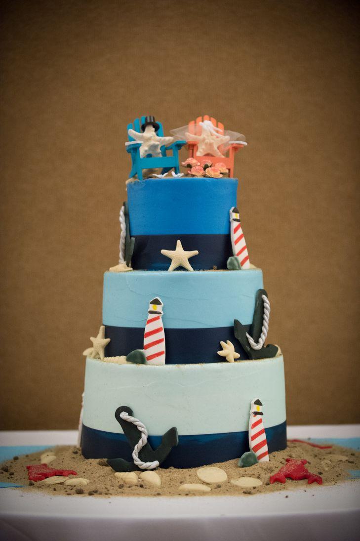 Nautical Lighthouse Wedding Cake