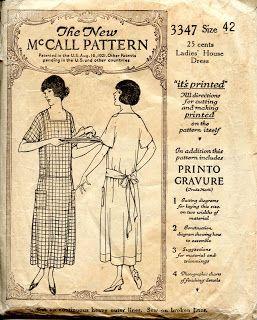 Unsung Sewing Patterns: house dress