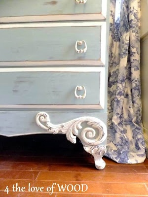 4 the love of wood: FRENCH BLU - blue chest of drawers
