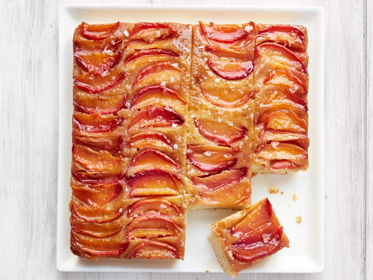 Nectarine Upside Down Cake with Salted Caramel Recipe   Food Network Kitchen   Food Network   FoodNetwork com