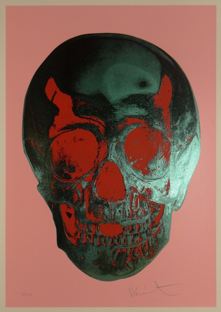 Damien Hirst: Till Death Do Us Part, 2012. Candy Floss, Pink Racing Green Pigment Red Pop Skull.