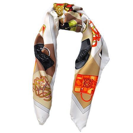 Loewe Madrid - The luxury Louis Vuitton brand from Spain, stunning colors and design, square silk women scarf.