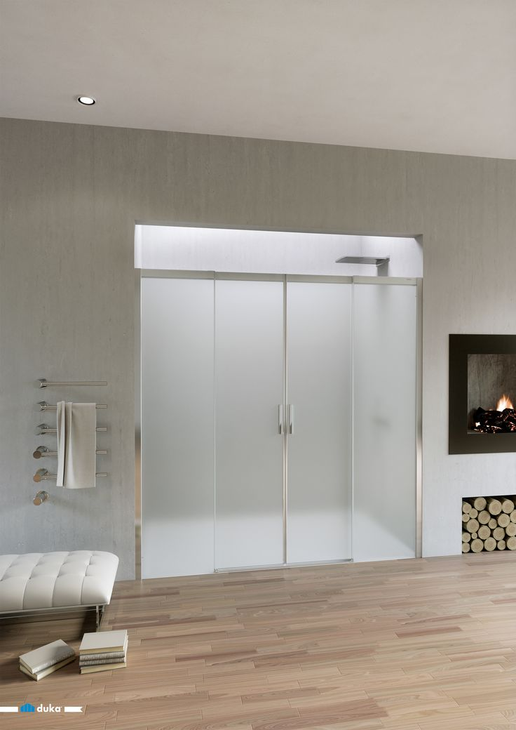 acqua R • a large shower enclosure with satin glass for a great and positive impact on your bathroom design. Two sliding doors result in a big entrance for a very special shower emotion.