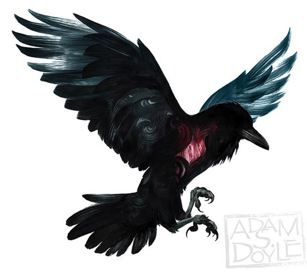 Painting by Adam S. Doyle – The Raven Boys by Maggie Stiefvater