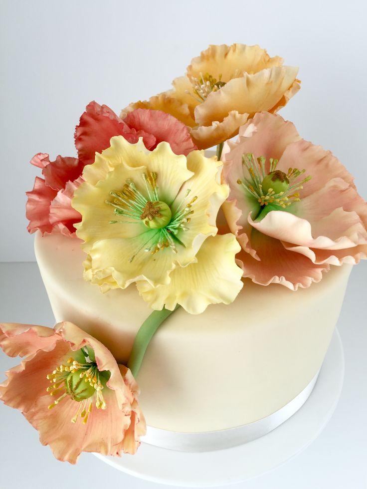 Poppie sugarflowers