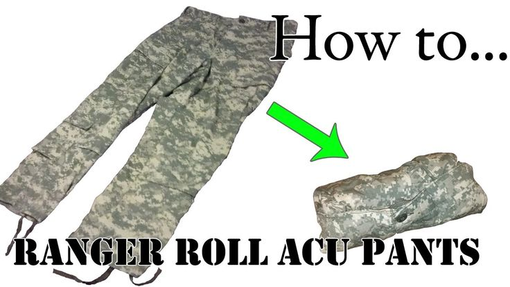 Army Packing Hack: How to Ranger Roll Your ACU Pants - Folding Uniform for Basic Training