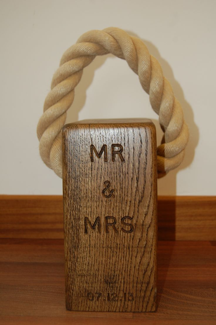 A great wedding gift.