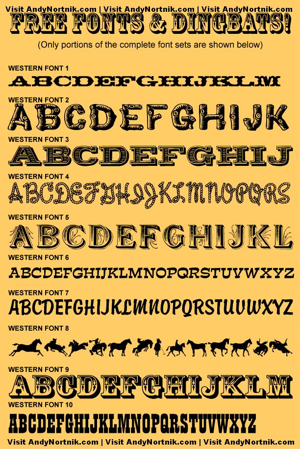 Free Western Fonts