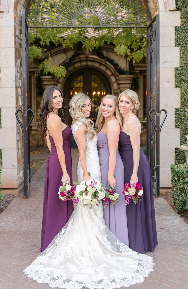 Bridesmaids in Shades of Purple | Monique Hessler Photography | see more at http://fabyoubliss.com