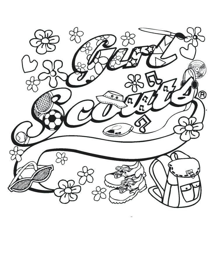 Girl Scout Free Printable Coloring Page Girl Scout Daisy