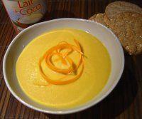 Délicieuse Soupe carottes, gingembre & lait de coco...même les réfractaires à la soupe en redemandent !