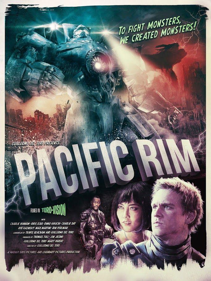 CIA☆こちら映画中央情報局です: Pacific Rim:ギレルモ・デル・トロ監督の大怪獣 VS. 巨大ロボットのSF大活劇「パシフィック・リム」がリリースした、とどめの最終版予告編と、クールなオルタナティブ・ポスター!! - 映画諜報部員のレアな映画情報・映画批評のブログです