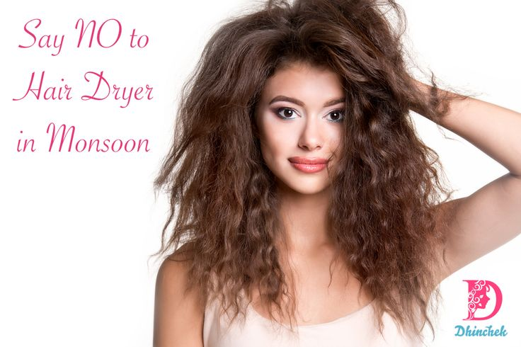 Monsoon season means wet and Frizzy Hair ! Preserve your hair's health by staying away from hair dryers and opt for dry towels instead to remove moisture from your hair.  #Book #beautyservices, #salonservices with few clicks at #dhinchek https://goo.gl/2LQhsi