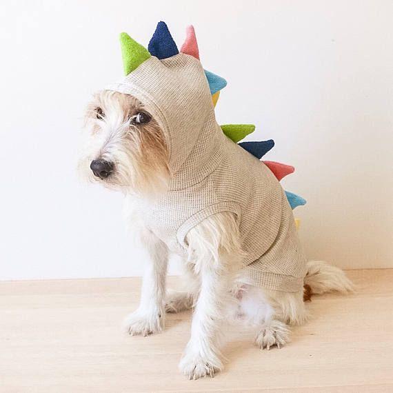 Rawrrrrrrrr!! Beware the Dino dog! This Dino Hoodie made from soft ...