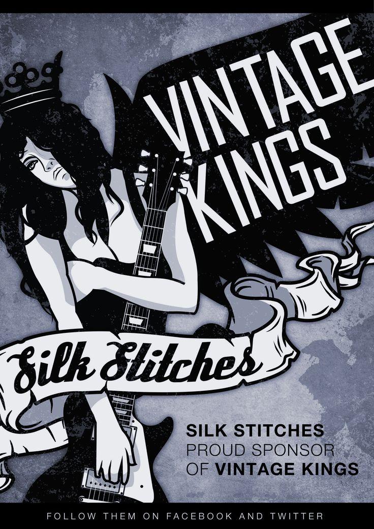 Illustrative poster design done for the band Vintage Kings