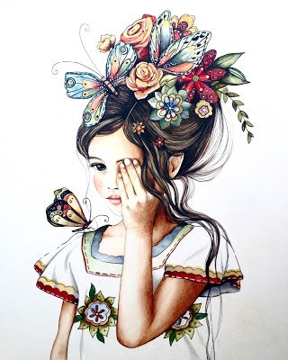 Claudia Tremblay  : Flowers in her hair...