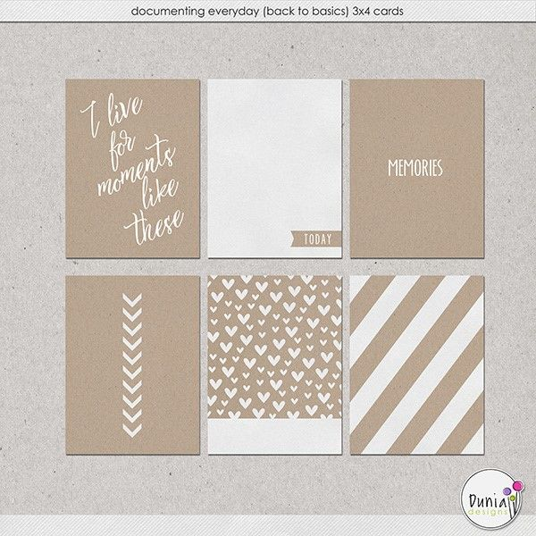Free Documenting Everyday: Back to Basics Journal Cards from Dunia Designs {newsletter subscription required}