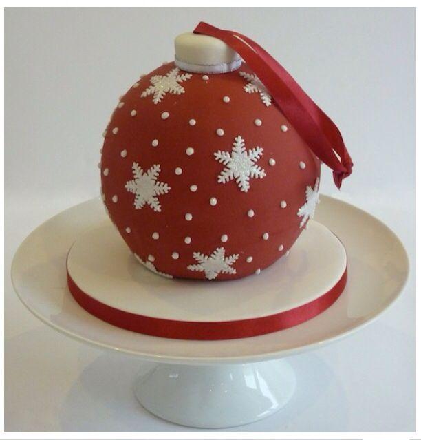 Christmas ornament Bauble cake