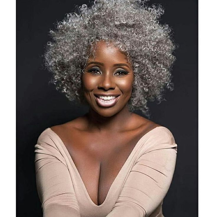 gorgeous gray natural hair