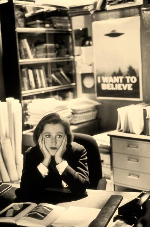 Dana Scully. Her whole perception in one expression.