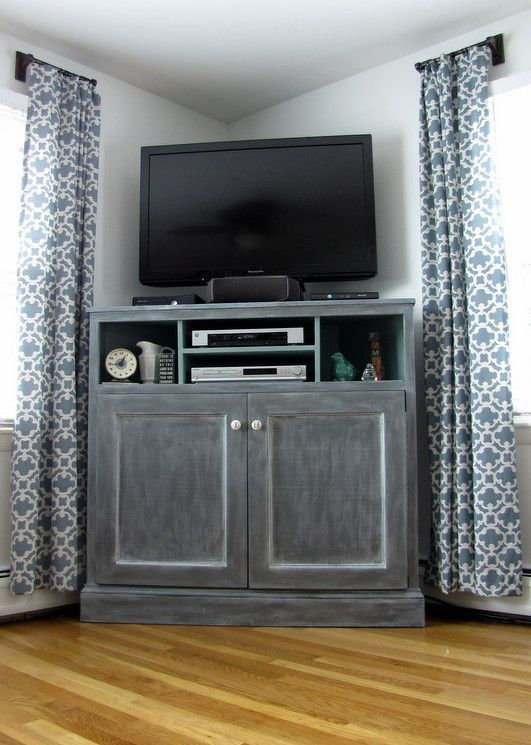 The 25+ best Tall corner tv stand ideas on Pinterest | Rustic tv ...
