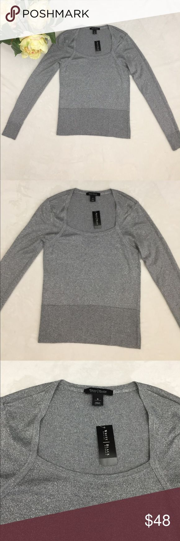 NWT❤️WHITE HOUSE BLACK MARKET❤️silver woman top Brand new woman silver top. Ask me questions about the measurements please. White House Black Market Sweaters Cowl & Turtlenecks